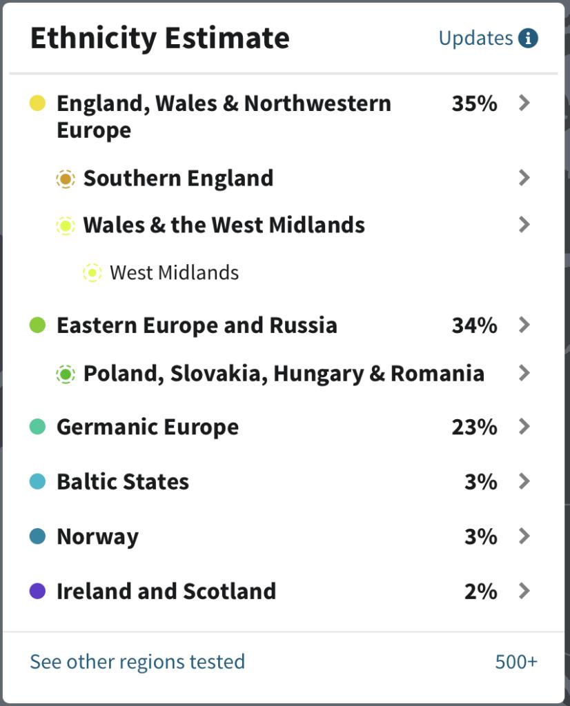 Paternal Ethnicity Estimate